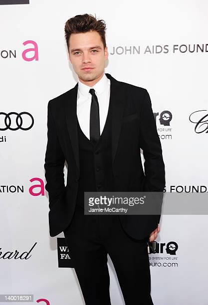 Actor Sebastian Stan arrives at the 20th Annual Elton John AIDS Foundation Academy Awards Viewing Party at The City of West Hollywood Park on...