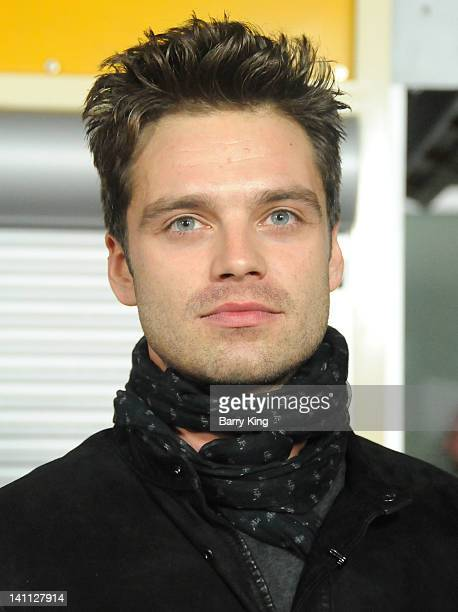 Actor Sebastian Stan arrives at the Los Angeles Premiere 'Gone'at ArcLight Hollywood on February 21 2012 in Hollywood California