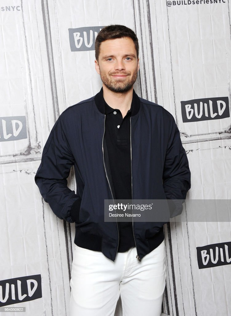 Actor Sebastian Stan attends Build Series to discuss 'Avengers: Infinity War' at Build Studio on May 3, 2018 in New York City.