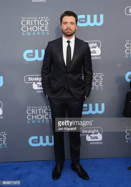 Actor Sebastian Stan attends The 23rd Annual Critics' Choice Awards at Barker Hangar on January 11 2018 in Santa Monica California