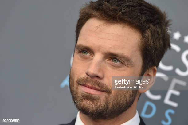 Actor Sebastian Stan attends the 23rd Annual Critics' Choice Awards at Barker Hangar on January 11 2018 in Santa Monica California