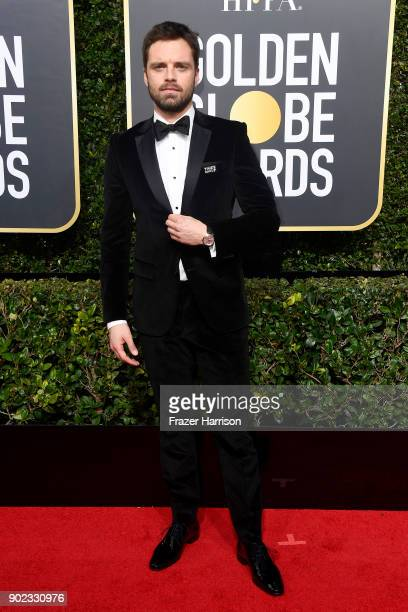 Actor Sebastian Stan attends The 75th Annual Golden Globe Awards at The Beverly Hilton Hotel on January 7 2018 in Beverly Hills California