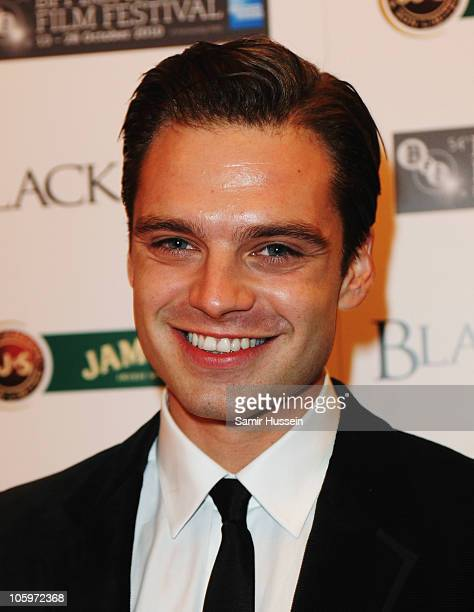 Actor Sebastian Stan attends the 'Black Swan' afterparty during the 54th BFI London Film Festival at the Royal Opera House on October 22 2010 in...