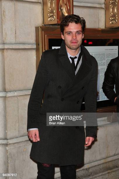 Actor Sebastian Stan attends the Broadway opening night of 'Race' at The Ethel Barrymore Theatre on December 6 2009 in New York City