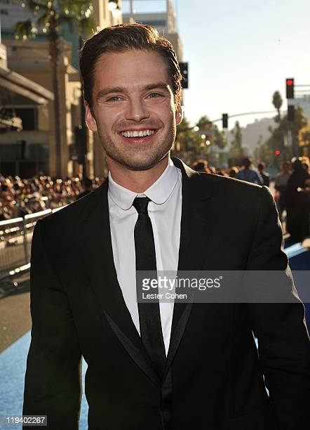 Actor Sebastian Stan attends the 'Captain America The First Avenger' Los Angeles Premiere at the El Capitan Theatre on July 19 2011 in Hollywood...