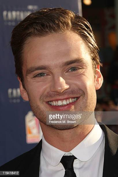 Actor Sebastian Stan attends the 'Captain America The First Avenger' Los Angeles Premiere at the El Capitan Theater on July 19 2011 in Hollywood...