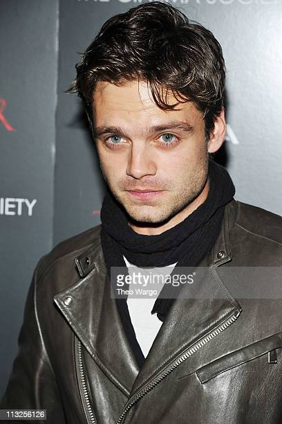 Actor Sebastian Stan attends the Cinema Society Acura screening Of 'Thor' at AMC Loews 19th Street East 6 theater on April 28 2011 in New York City