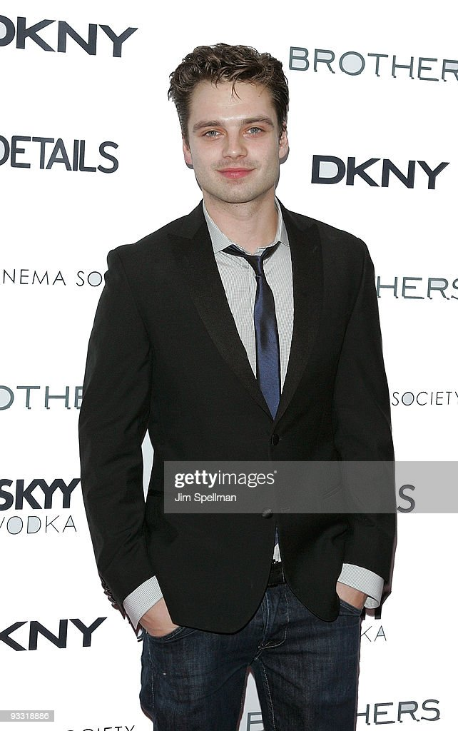 Actor Sebastian Stan attends the Cinema Society and DKNY Men screening of 'Brothers' at the SVA Theater on November 22, 2009 in New York City.