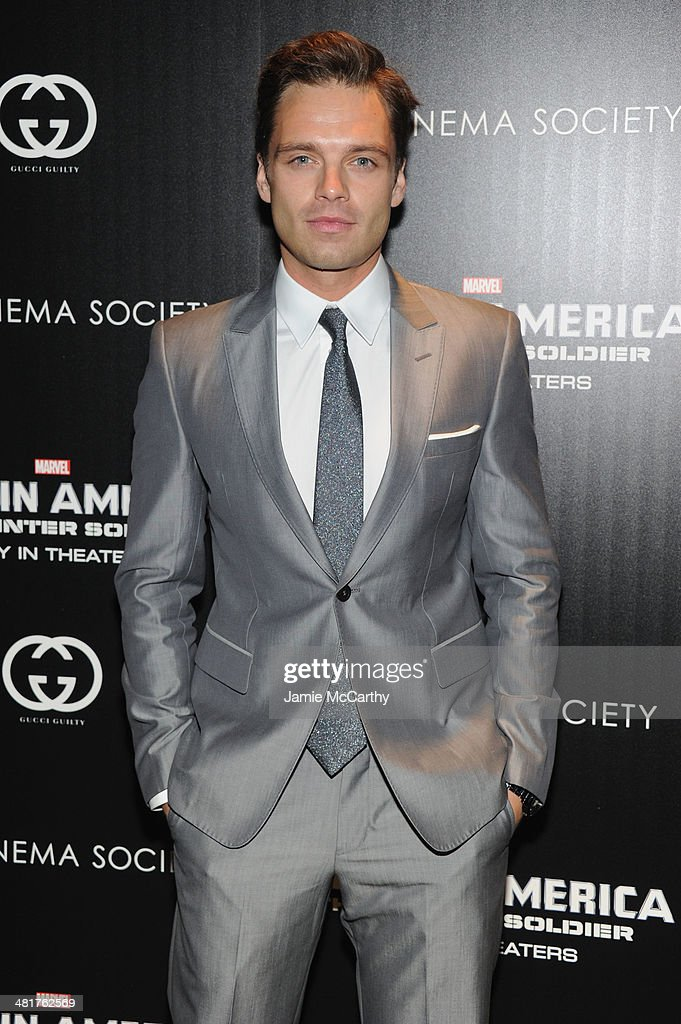 "The Cinema Society & Gucci Guilty Host A Screening Of Marvel's ""Captain America: The Winter Soldier"" - Arrivals : Nachrichtenfoto"