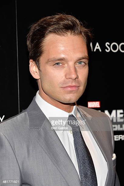 Actor Sebastian Stan attends The Cinema Society Gucci Guilty screening of Marvel's 'Captain America The Winter Soldier' at Tribeca Grand Hotel on...