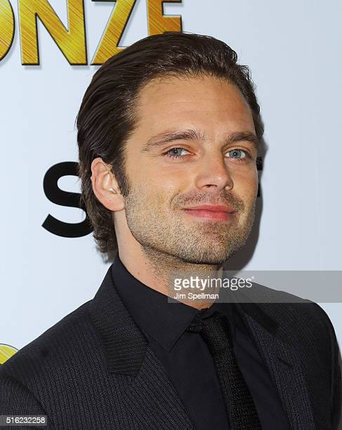 Actor Sebastian Stan attends The Cinema Society SELF host a screening of Sony Pictures Classics' The Bronze at Metrograph on March 17 2016 in New...