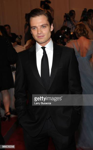 Actor Sebastian Stan attends the Costume Institute Gala Benefit to celebrate the opening of the 'American Woman Fashioning a National Identity'...