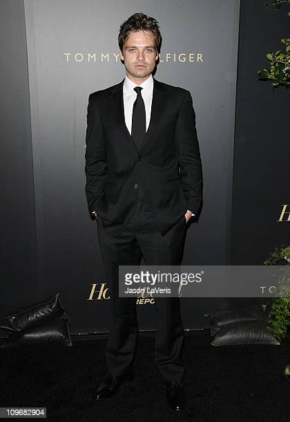 Actor Sebastian Stan attends The Hollywood Reporter Big 10 party at The Getty House on February 24 2011 in Los Angeles California