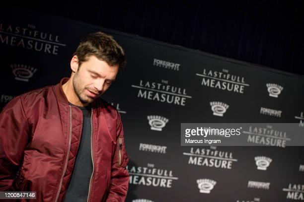 "Actor Sebastian Stan attends ""The Last Full Measure"" Atlanta screening at SCADshow on January 20, 2020 in Atlanta, Georgia."