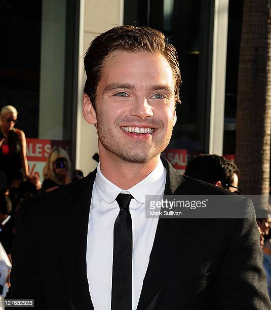 Actor Sebastian Stan attends the Los Angeles Premiere of 'Captain America The First Avenger' at the El Capitan Theatre on July 19 2011 in Hollywood...