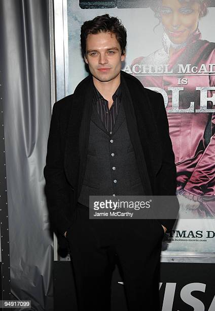 Actor Sebastian Stan attends the New York premiere of Sherlock Holmes at the Alice Tully Hall Lincoln Center on December 17 2009 in New York City
