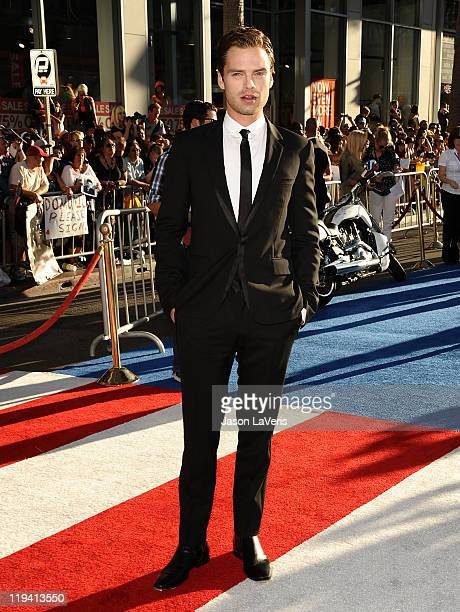 Actor Sebastian Stan attends the premiere of Captain America The First Avenger at the El Capitan Theatre on July 19 2011 in Hollywood California