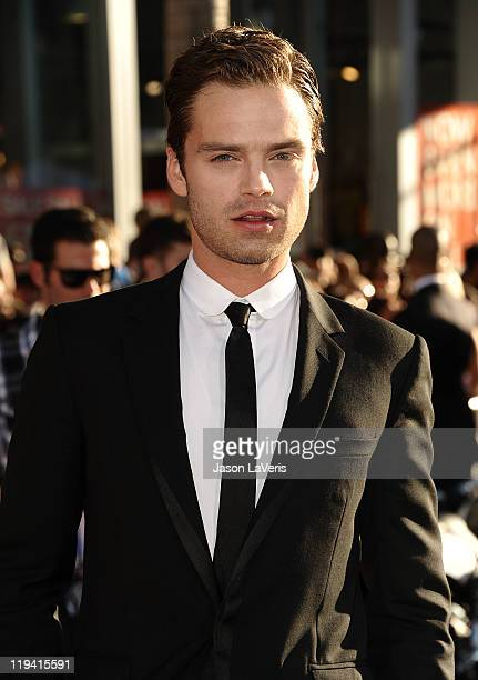 Actor Sebastian Stan attends the premiere of 'Captain America The First Avenger' at the El Capitan Theatre on July 19 2011 in Hollywood California