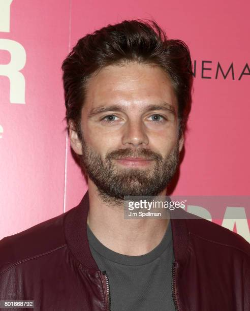Actor Sebastian Stan attends the screening of 'Baby Driver' hosted by TriStar Pictures with The Cinema Society and Avion at The Metrograph on June 26...