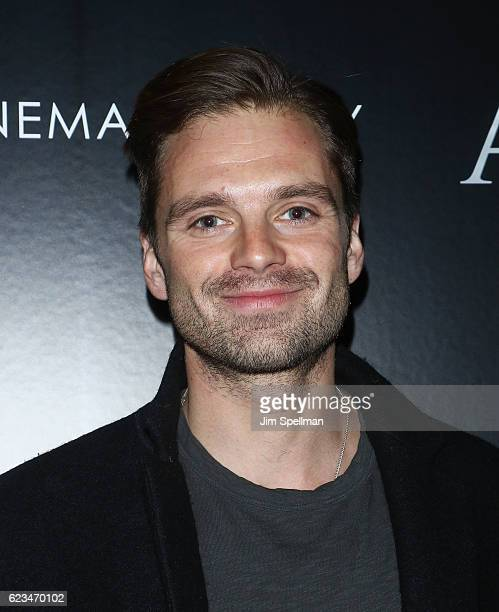 Actor Sebastian Stan attends the special screening of 'Allied' hosted by Paramount Pictures with The Cinema Society Chandon at iPic Fulton Market on...