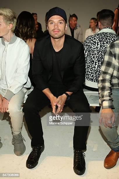 Actor Sebastian Stan attends the Todd Snyder fashion show during New York Fashion Week Men's S/S 2017 at Skylight Clarkson Sq on July 14 2016 in New...