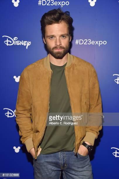Actor Sebastian Stan of AVENGERS INFINITY WAR took part today in the Walt Disney Studios live action presentation at Disney's D23 EXPO 2017 in...