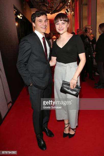 Actor Sebastian Urzendowsky and his sister Lena Urzendowsky during the New Faces Award Style 2017 at The Grand hotel on November 15 2017 in Berlin...