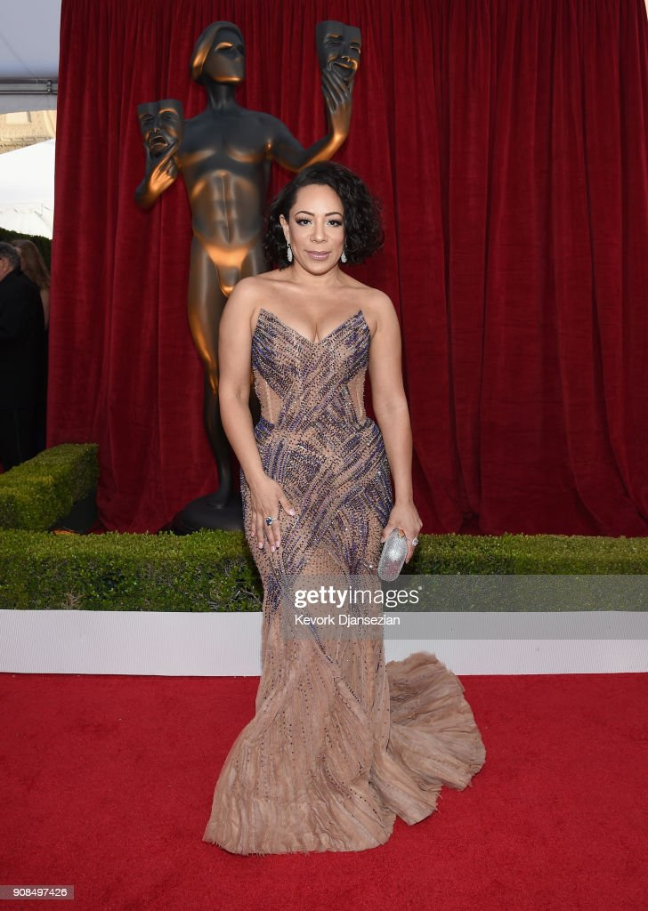 Actor Selenis Leyva attends the 24th Annual Screen ActorsGuild Awards at The Shrine Auditorium on January 21, 2018 in Los Angeles, California.