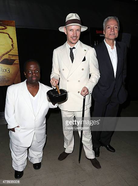 Actor Selwyn Emerson Miller director Tom Six and actor Dieter Laser attend the premiere of IFC Midnight's The Human Centepede 3 at the TCL Chinese 6...
