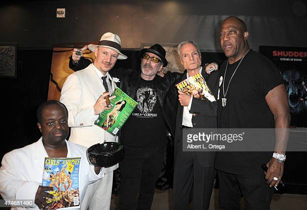 Actor Selwyn Emerson Miller director Tom Six publisher Robert Rhine actor Dieter Laser and actor Tommy 'Tiny' Lister arrive for the Premiere Of IFC...