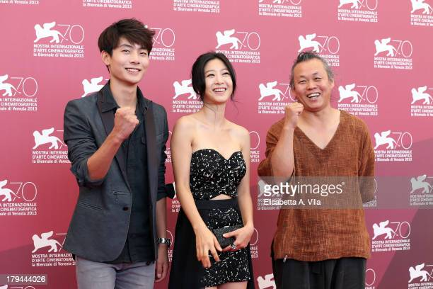 Actor Seo Young Ju actress Lee EunWoo and director Kim Kiduk attend the Moebius Photocall during the 70th Venice International Film Festival at Sala...