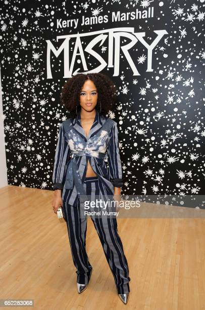 Actor Serayah McNeill attends MOCA's Leadership Circle and Members' Opening of Kerry James Marshall Mastry at MOCA Grand Avenue on March 11 2017 in...
