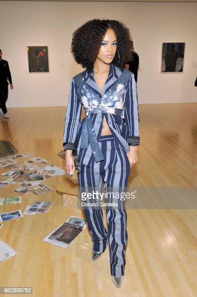 Actor Serayah McNeill attends MOCA's Leadership Circle and Members' Opening of Kerry aJames Marshall Mastry at MOCA Grand Avenue on March 11 2017 in...