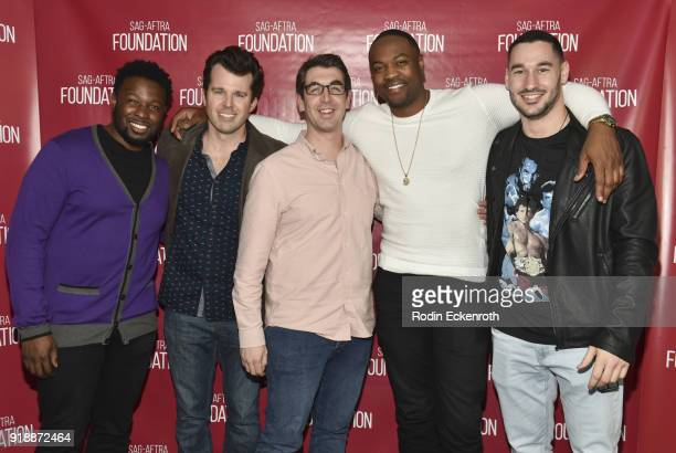 Actor Ser'Darius Blain Shandall Chine Beau Turpin Will Douglas and Jake Smith pose for portrait at SAGAFTRA Foundation Conversations screening of...