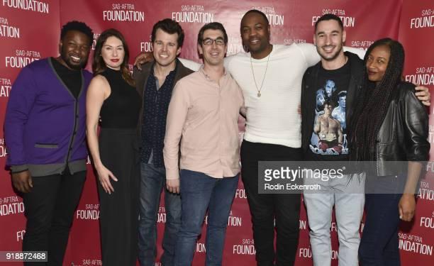 Actor Ser'Darius Blain Shandall Chine Laetitia Leon Beau Turpin Will Douglas and Jake Smith pose for portrait at SAGAFTRA Foundation Conversations...