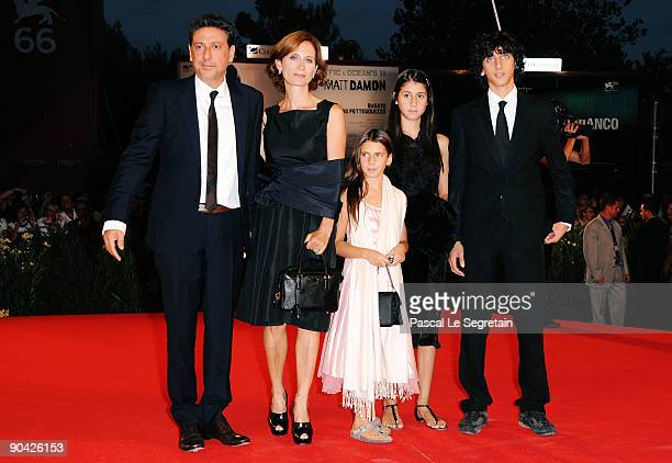 """Actor Sergio Castellitto and wife and writer Margaret Mazzantini and children attend the """"36 Vues Du Pic Saint Loup"""" premiere at the Sala Grande..."""