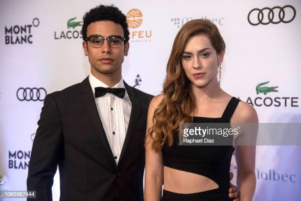 Actor Sergio Malheiros and actress Sophia Abrahao attend the GQ Brazil Men of The Year Awards at Belmond Copacabana Palace on November 27, 2018 in...