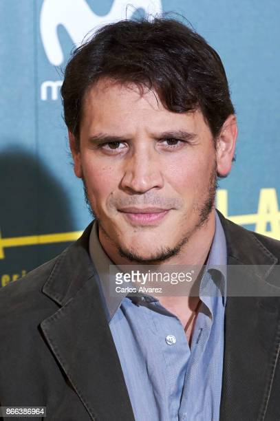 Actor Sergio PerisMencheta attends 'La Zona' premiere at the Capitol cinema on October 25 2017 in Madrid Spain