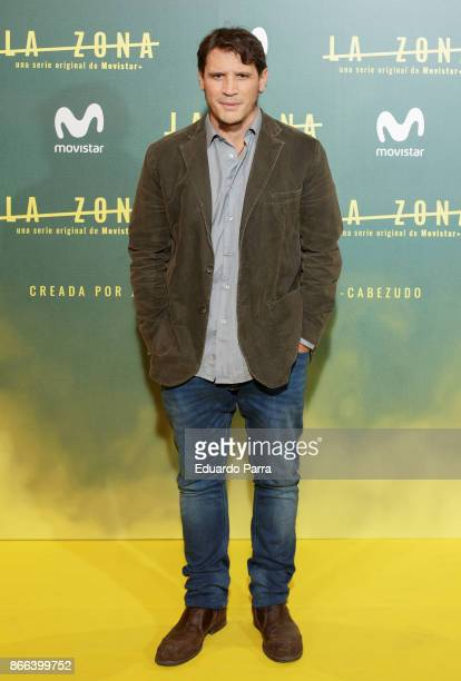 Actor Sergio PerisMencheta attends the 'La Zona' premiere at Capitol cinema on October 25 2017 in Madrid Spain