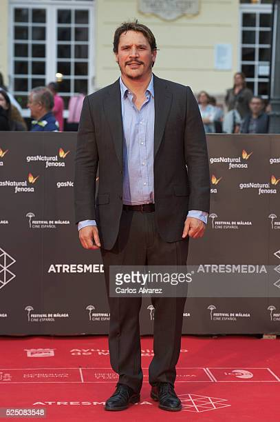Actor Sergio PerisMencheta attends 'Zoe' premiere at the Cervantes Teather during the 19 Malaga Film Festival on April 27 2016 in Malaga Spain