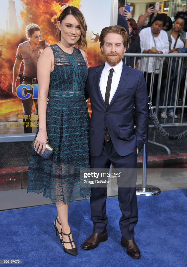 Actor Seth Green and wife Clare Grant arrive at the premiere of Warner Bros. Pictures' 'CHiPS' at TCL Chinese Theatre on March 20, 2017 in Hollywood, California.