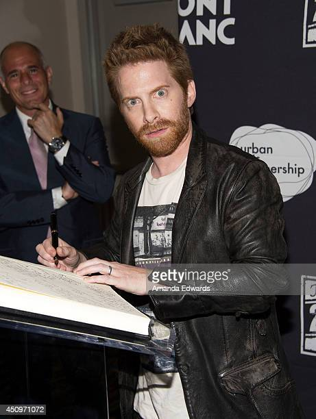 Actor Seth Green arrives at the afterparty for the 4th annual production of The 24 Hour Plays In Los Angeles benefitting Urban Arts Partnership at...
