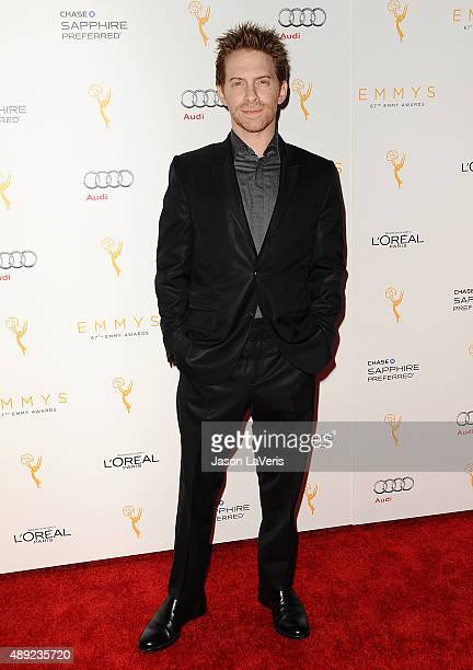 Actor Seth Green attends the Television Academy's celebration for the 67th Emmy Award nominees for outstanding performances at Pacific Design Center...