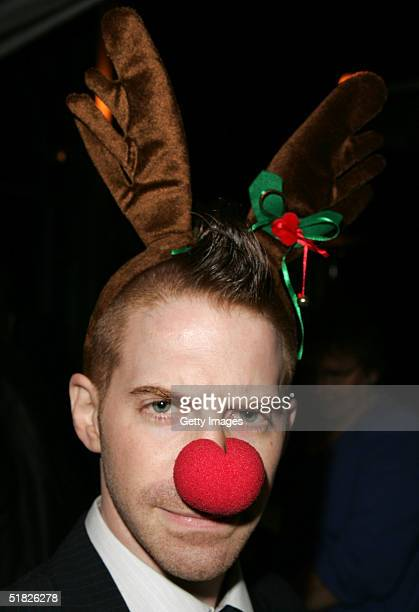 Actor Seth Green prepares backstage during The Church of Scientology Celebrity Centre's 12th Annual Christmas Stories to benefit the Hollywood Police...