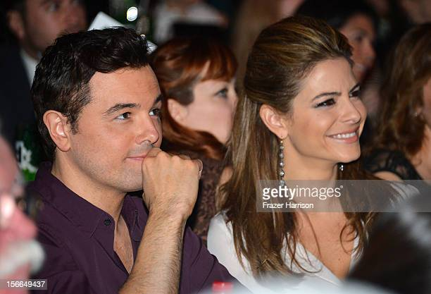 Actor Seth MacFarlane and Maria Menounos attend Variety's 3rd annual Power of Comedy event presented by Bing benefiting the Noreen Fraser Foundation...