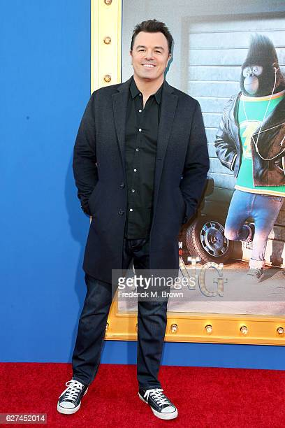 Actor Seth MacFarlane attends the premiere Of Universal Pictures' Sing on December 3 2016 in Los Angeles California