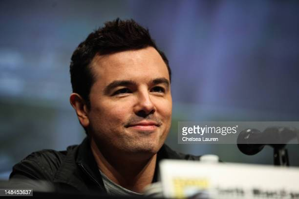 "Actor Seth MacFarlane attends the ""The Cleveland Show"" panel at Comic-Con International at San Diego Convention Center on July 15, 2012 in San Diego,..."