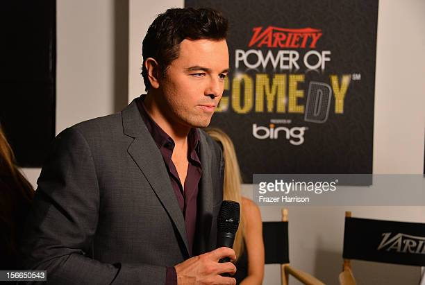 Actor Seth MacFarlane attends Variety's 3rd annual Power of Comedy event presented by Bing benefiting the Noreen Fraser Foundation held at Avalon on...