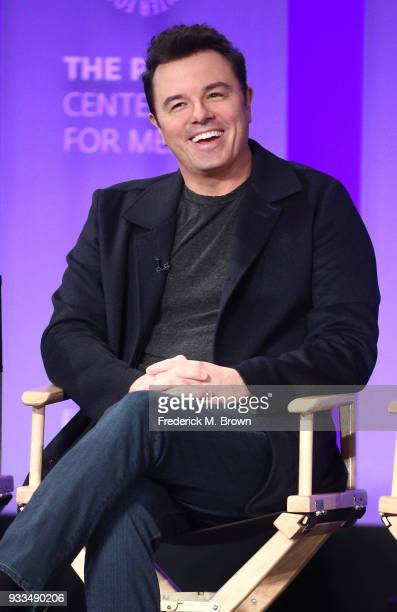 Actor Seth MacFarlane of the television show The Orville speaks during The Paley Center for Media's 35th Annual PaleyFest Los Angeles at the Dolby...