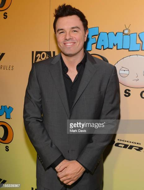 Actor Seth McFarlane attends the 'Family Guy' 200th Episode paty held at the Belasco Theater on November 2 2012 in Los Angeles California